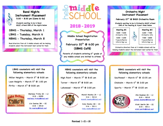 5th Grade Registration Flyer 1